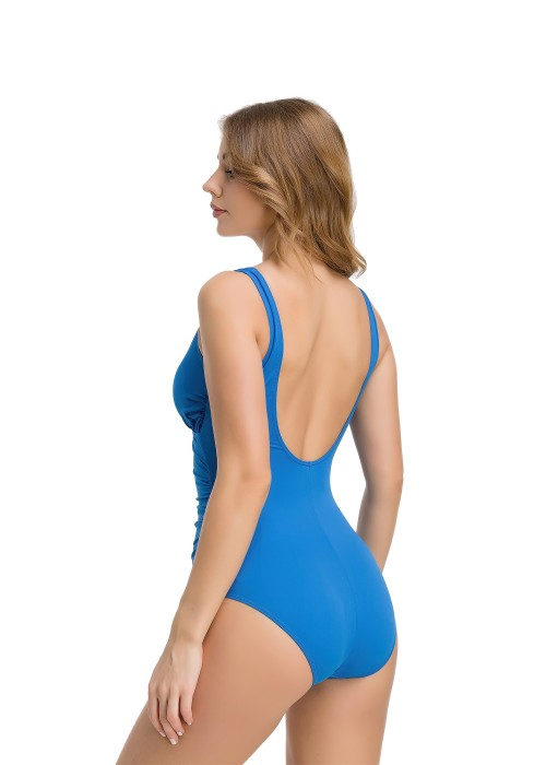 Front Cross Blue One-Piece